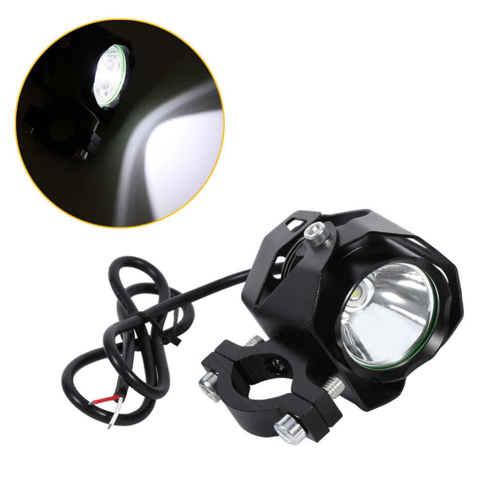 Motorcycle LED Spotlight Driving Headlight Fog Lamp Spot Light with Lampshade Black led moto 15W XML T6 headlight motorcycle