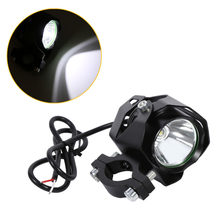 Motorcycle LED Spotlight Driving Headlight Fog Lamp Spot Light with Lampshade Black led moto 15W XML T6 headlight motorcycle(China)