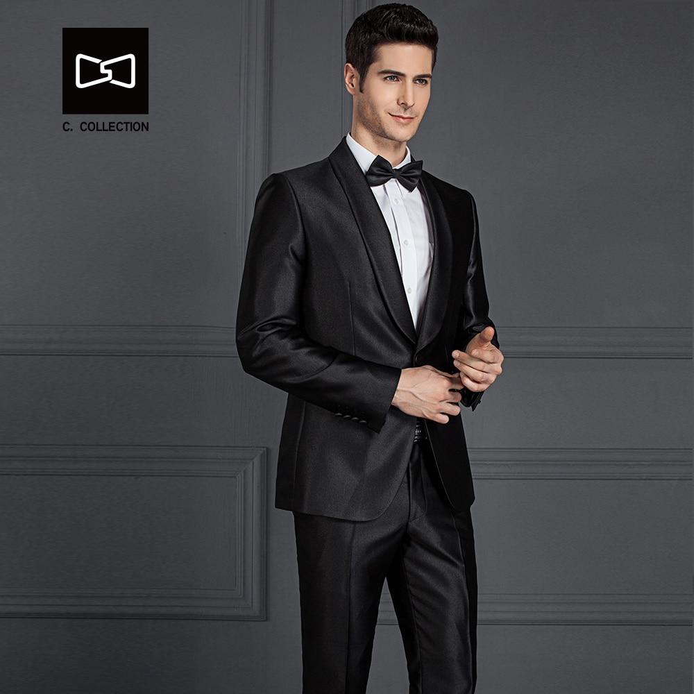 Tailor-made Men Black Suit Shawel Collar Slim fit Wedding Suit Men Tuxedo 2 Pieces(Jacket+Pants) No. SZ160A5
