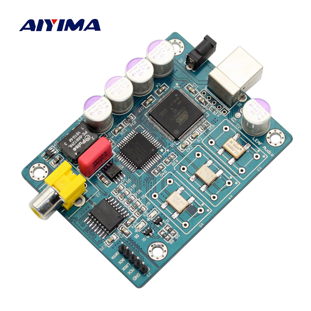 Aiyima Amanero Usb iis Digital Interface ATSAM3U1C XC2C64A WM8805 DAC Decoder Board Coaxial I2S DSD Output For Amplifier Board smal a6 hifi digital amplifier 50wx2 dac digital 110v 220v native dsd512 usb optical coaxial lp player cd analog input