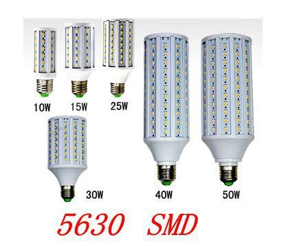 E27/B22 /E14  5630 12W/15W/25W/30W/40W/50W  220V/110V  led  lamp corn bulb  white warm white   free shipping