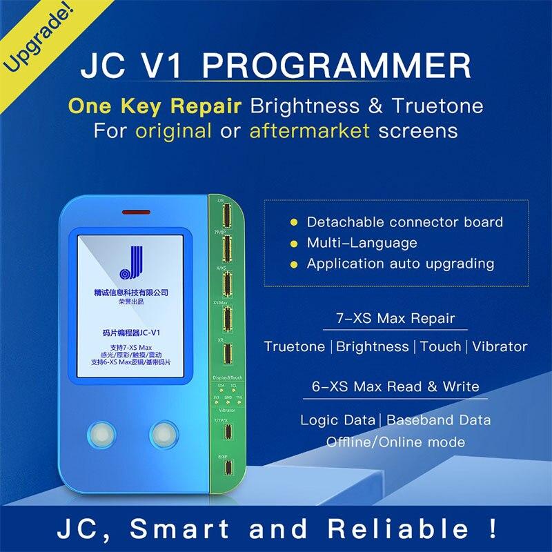 JC V1 EEPROM programmeur pour iPhone 7 7 P 8 8 P X XR XS MAX photosensible/couleur d'origine/tactile vibrateur réparation carte logique lire
