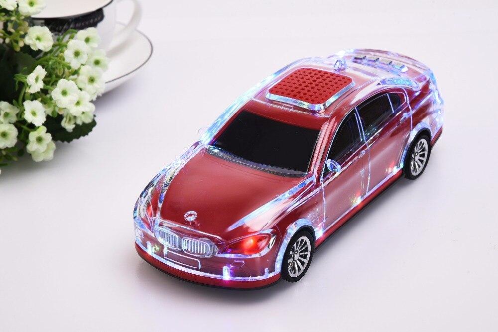 Car Model Bluetooth Wireless Speaker Car Shape Speakers Support TF Card FM Radio Handsfree Sound Box
