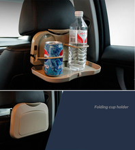 New Car styling Foldable Multifunction seat back plate cell phone Drink cup holder Dining Tray Folding Meal Table Holder