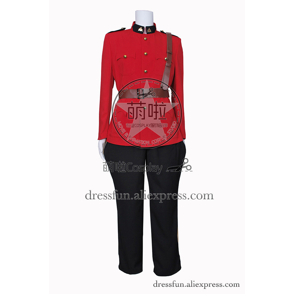 Due South Cosplay Constable Benton Fraser Costume New Red Uniform Outfits Jacket Suit Halloween Fashion Party Fast Shipping