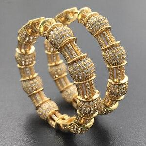 Image 3 - Longika mode bijoux luxe exagéré classique grandes boucles doreille lourdes Micro plaqué boucles doreilles de mariage nuptiale quotidien meilleur cadeau