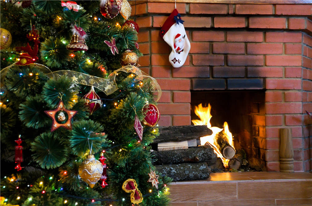 Fireplace Vinyl Photo Studio Backdrops  Christmas Photography Background for Children 7x5ft or 5x3ft  christmas021 photography backdrops children photo studio props brick walls baby background vinyl 9x6ft or 7x5ft or 5x3ft jiejp189