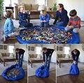 Saco De Armazenamento portátil Toy Kids e Esteira do Jogo Lego Stirage Organizador Bin Box 3 Cores Frete Grátis