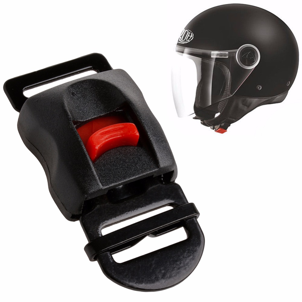 Plastic & Metal Motorcycle Helmets Speed Buckle Clip Chin Strap Quick Release Disconnect Black Speed Clip Adjustable Drawcords