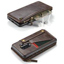 Ví Dây Ốp lưng Điện thoại Samsung Galaxy S9 Plus note9 coque Da Cao Cấp Sang Trọng Fundas Etui Bảo Vệ Có túi xách Phụ Kiện