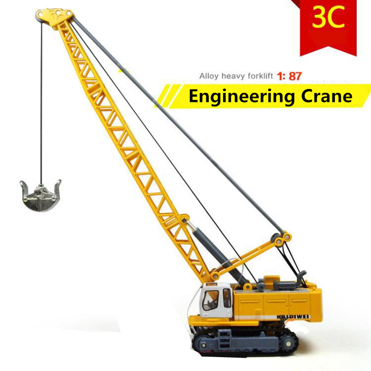 1:87 alloy model crane, crane engineering high simulation car toys, metal casting, educational toys, free shipping free shipping alloy engineering vehicle model 1 87 tower cable car crane toy original factory simulation children
