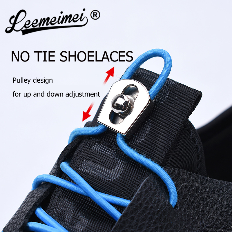 No Tie Shoelaces Elastic Shoe Laces With Metal Lock For Sneakers Hiking Boots Or Running Tennis Sports Shoes