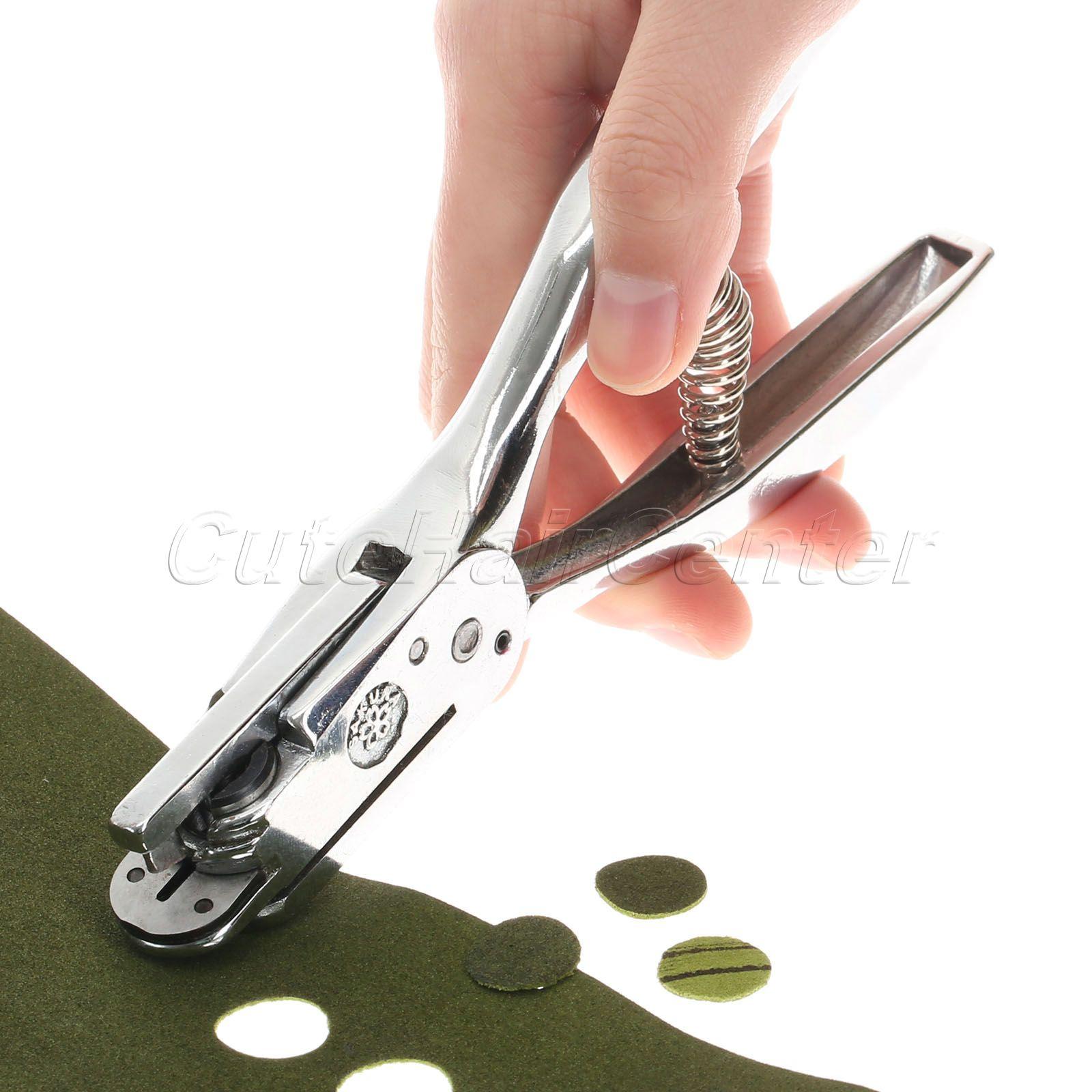 Alta qualidade 2 em 1 entalhes & padrão buraco perfurador alicate ferramenta de artesanato couro