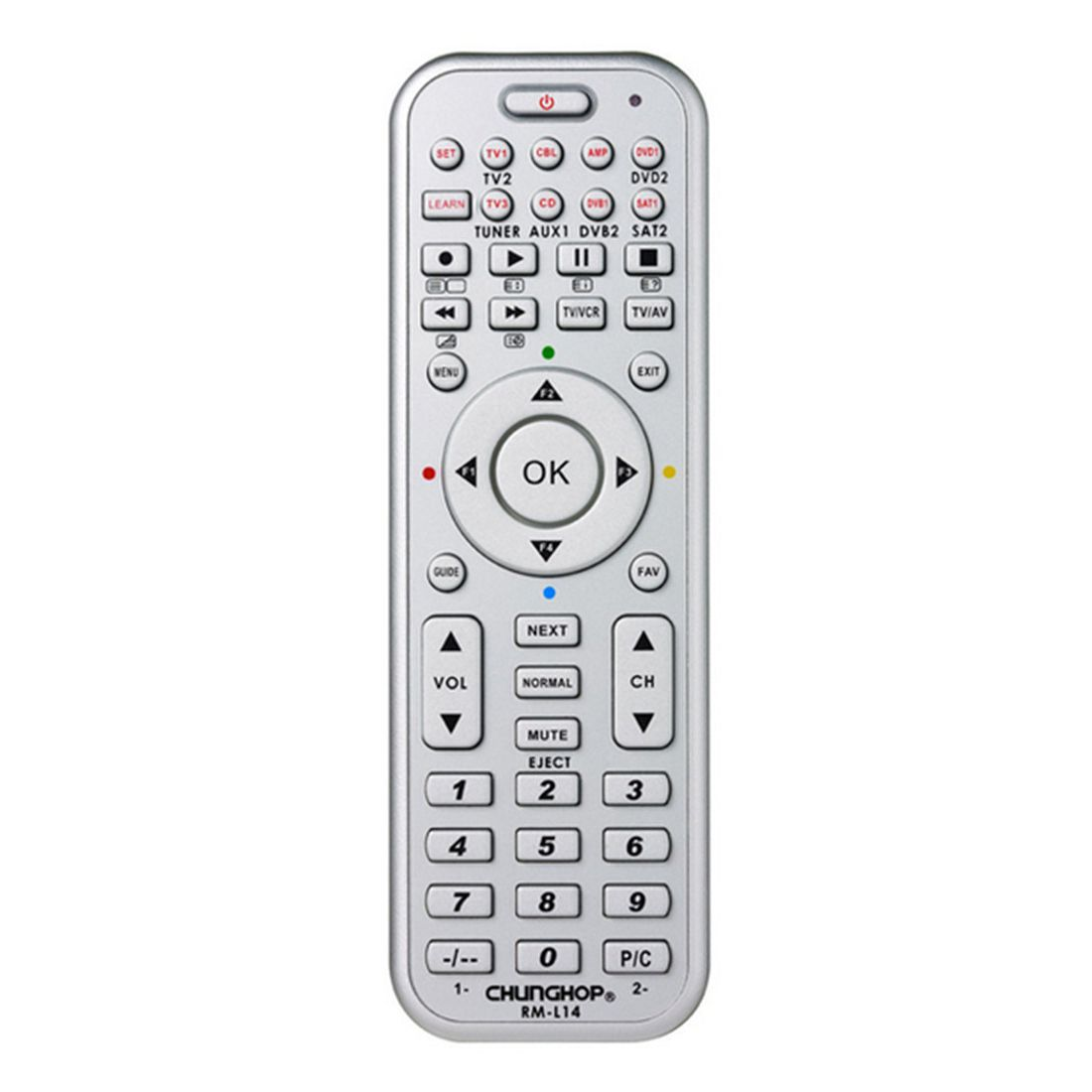 CHUNGHOP RM-L14 Universal Smart Remote Control With Learn Function For TV CBL DVD SAT DVB CONTROLLER copy chunghop rm l7 multifunctional learning remote control silver