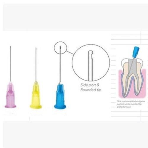 Ponta da agulha da irrigação de endo dental de 150 pces 25g/27g/30ga 30g extremidade fechado lado furo endo pontas da seringa