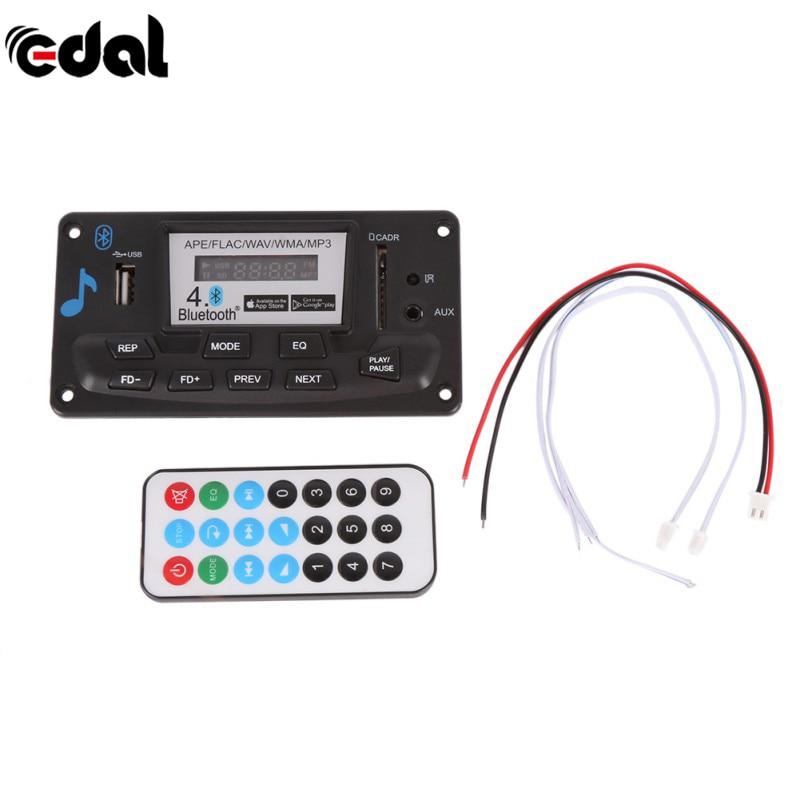 все цены на 4.0 Bluetooth MP3 Decoding Board Module 12V DIY USB/SD/MMC APE FLAC WAV DAE Decoder Record MP3 Player AUX FM Folders Switch онлайн