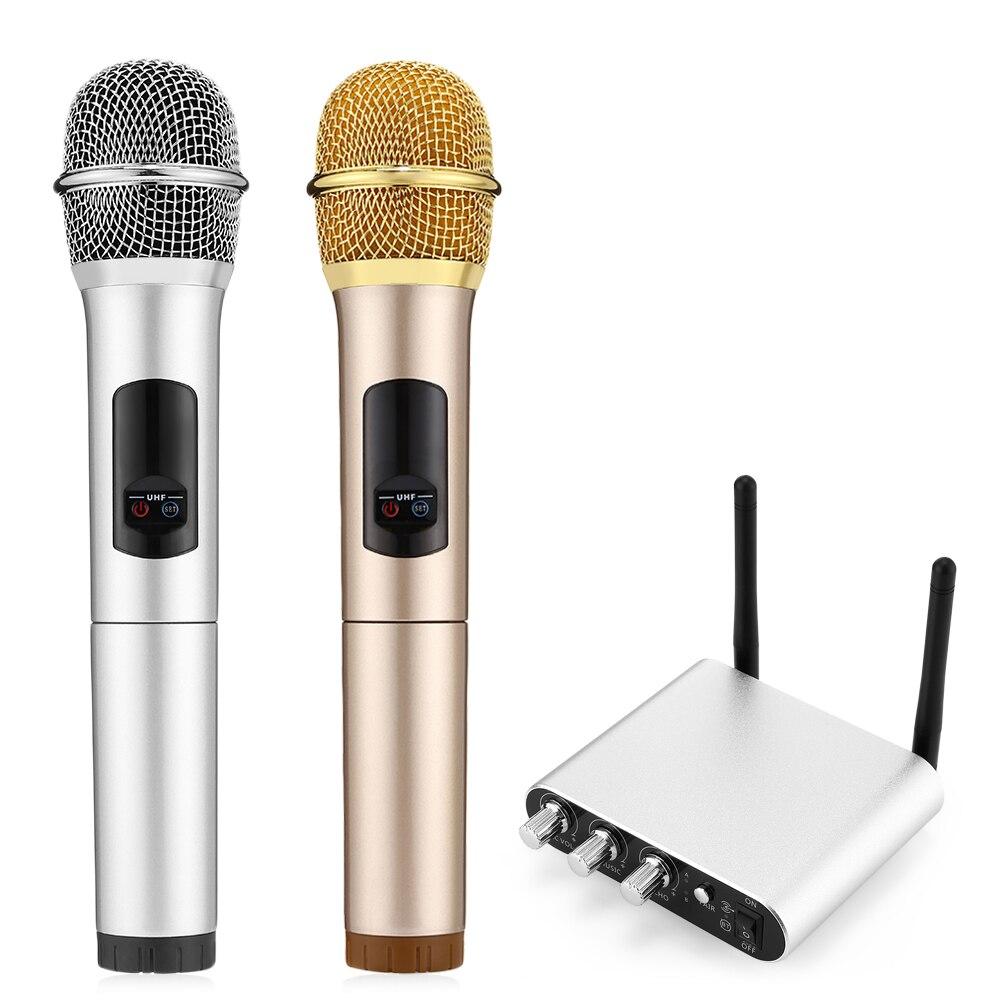 New K38-C 2PCS UHF Dual Wireless Microphone Bluetooth 3.0 Portable Microphone Recording Partner Microphone For Karoke KTV TV PCNew K38-C 2PCS UHF Dual Wireless Microphone Bluetooth 3.0 Portable Microphone Recording Partner Microphone For Karoke KTV TV PC