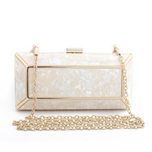 Women's Fashion Acrylic Clutch Evening Bag Chain Shoulder Party Clutch Handbag Purse Wallet red trunk clutch bag fashion brand diamond relief acrylic ballot lock luxury handbag evening bag clutch party purse shoulder bag