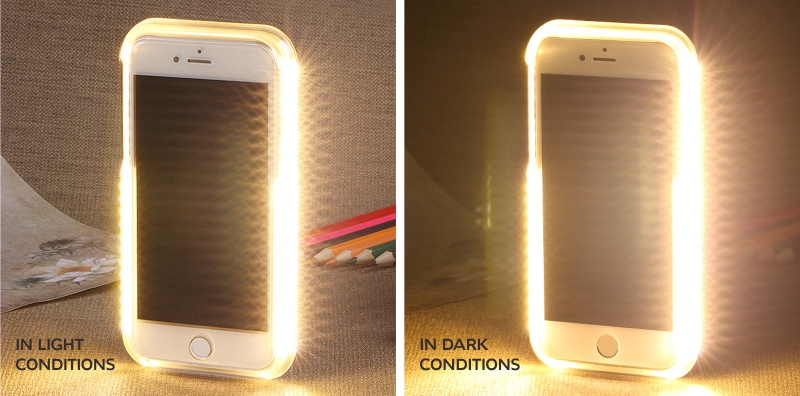 geekoplanet.com - Selfie Light Up LED Phone Case for iPhone