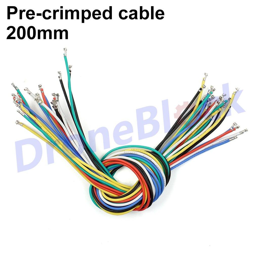 24Pcs 6 Colors Pre-crimped Cables SPRacing F3 Pixhawk Apm F4 CC3D GPS Telemetry OSD Silicon Wire 20cm