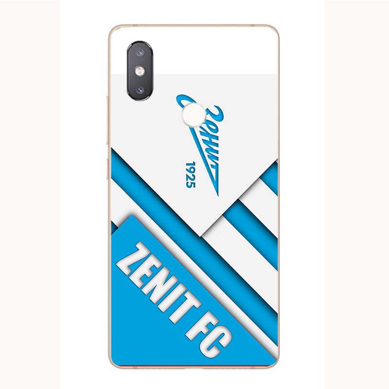 ТПУ чехол с изображением логотипа футбольного клуба FC Zenit для Xiaomi Mi a1 A2 A3 6 8 9 SE Pro Lite, мягкий силиконовый чехол с принтом для телефона