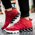 Новых Прибыть Мужская Мода Обувь Дышащий Повседневная Узелок Обувь Кроссовки Плоские Ботинки Корзина Бегун Обувь Zapatillas Хомбре