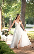 Thinyfull 2019 Cheap Sexy Wedding Dresses White/ivory Chiffon Beach Dress Appliqued with Lace Princess Gowns