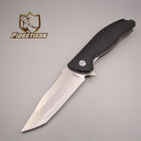 New Tool Sharpener Tactical Knife Survival Hunting Titanium Folding Blade Pocket Stainless Steel Knife Cutting G10