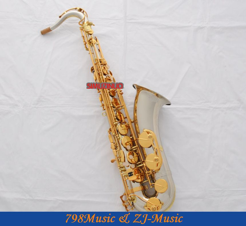 цена  Professional New Cupronickel Body Tenor Sax Bb Keys Saxophone High F# With Case  онлайн в 2017 году