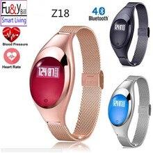 Фу & Y Билл Модные женские Z18 Смарт часы браслет с артериального давления монитор сердечного ритма шагомер фитнес-трекер FO Android IOS