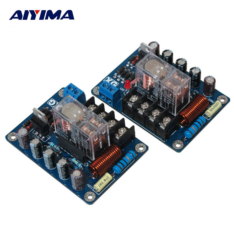 AIYIMA 2Pcs Audio Speakers Protect Board Mono UPC1237 Speaker Protection Board AC9-16V Mirror Symmetrical Circuit aiyima upc1237 speaker protection board dual channel power on delay dc protect module 11 26v for audio amplifier amp diy