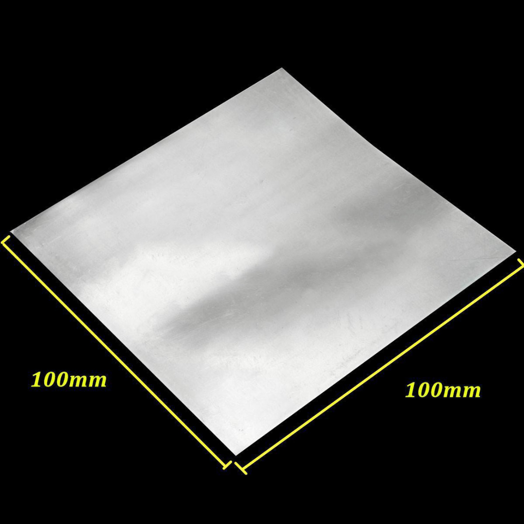 1pc High Purity Zinc Zn Sheet Plate Metal Foil 100x100x0.5mm For Science Experimental Situations 1sheet matte surface 3k 100% carbon fiber plate sheet 2mm thickness
