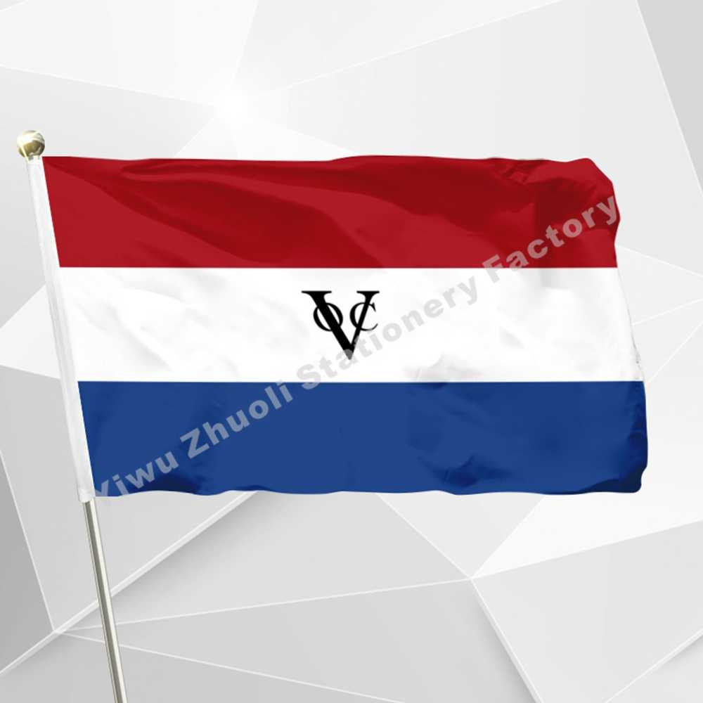 Netherlands Dutch East India Company Flag 150X90cm (3x5FT) 120g 100D Office/Activity/parade/Festival/world cup/Home Decoration