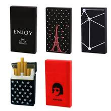 Ladies Silicone Cigarette Case Cover Men Gift Box Sleeve Smoking Cigarette Box Pocket Cigarettes Pack Cover Birthday Gift(China)