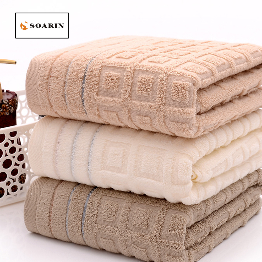 SOARIN Cotton Bath Towel Untwisted Yarn Beach Towels For Adults Toalla De Playa Drap De Bain Serviettes De Plage Pour Adultes