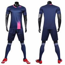19/20 new blank football jersey adult children suit sports set shirt short-sleeved shorts training running