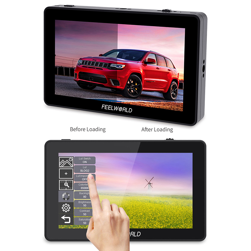 Feelworld F6 Plus 5,5 Zoll Touch Screen Auf Kamera Monitor 1920*1080P 3D LUT 4K HDMI Video filmausrüstung Monitor für DSLR Gimbal