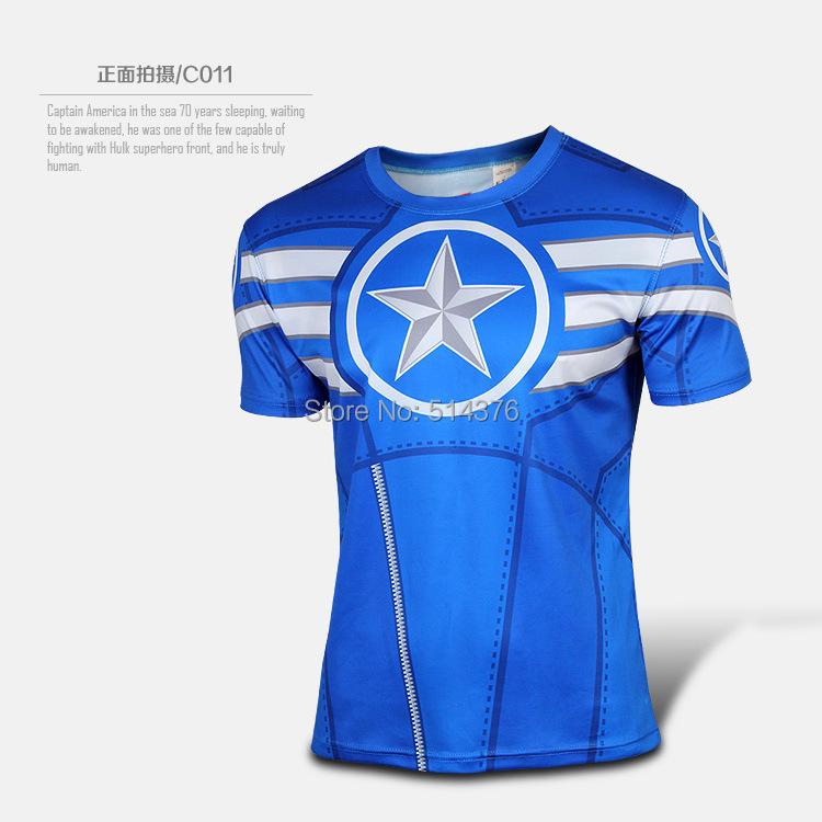Aliexpress.com   Buy Marvel America Super Hero cycling jersey breathable  running sport T shirt Men summer ropa ciclismo bike bicycle cycling clothing  from ... fb3bf4b77