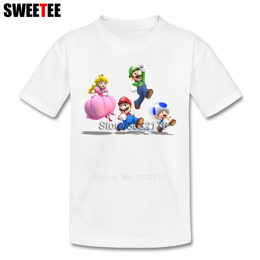 Super Mario 3D World Boy Girl T Shirt Baby Infant 100% Cotton Round Neck Kid Tshirt children's Clothing 2018 T-shirt For Toddler