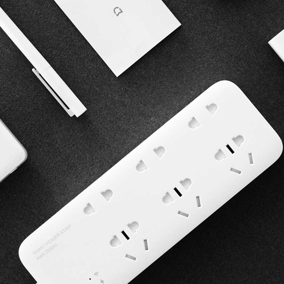 Original Xiaomi Mijia WiFi Smart Home Power Strip 6 Ports Wireless Remote Power Control with APP Control with Timing Switch цена 2017