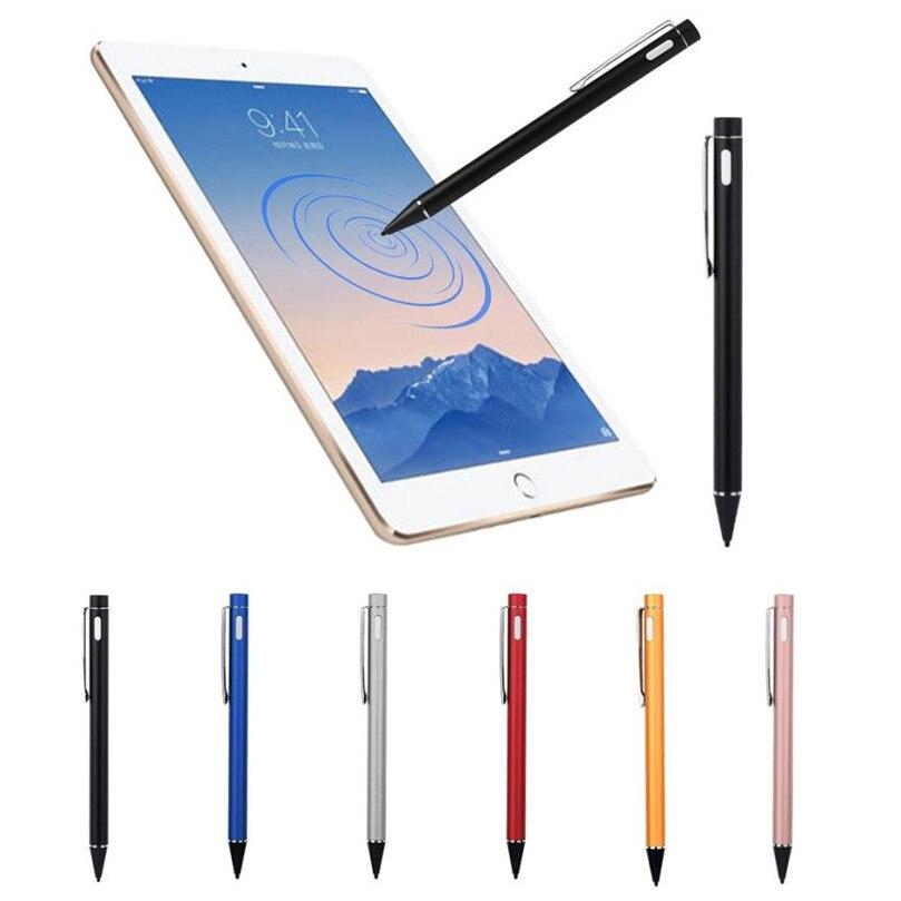 Цена за Надежный Алюминиевый сплав Экран Стилус Стилус С USB Зарядка провод Для apple ipad 2/3/4 mini Pro и воздуха
