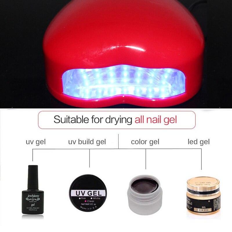 UV LED Lamp Nail Dryer Portable Micro Nail Gel Polish Dryer Machine Mini Nail Lamp Nail Tool Home Use in Nail Dryers from Beauty Health