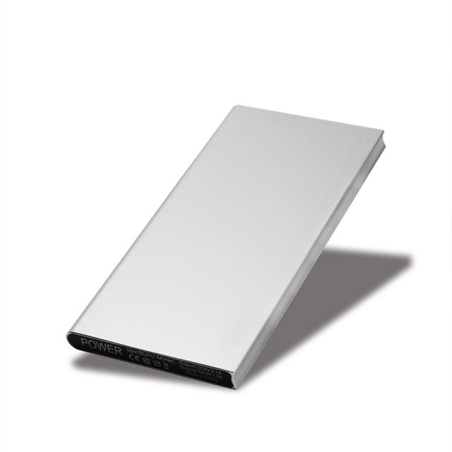 Ultra-fino Banco de Energia Móvel 10000 mAh caixa de metal levou luz USB Externo de Backup de Bateria Portátil carregador de Celular universal