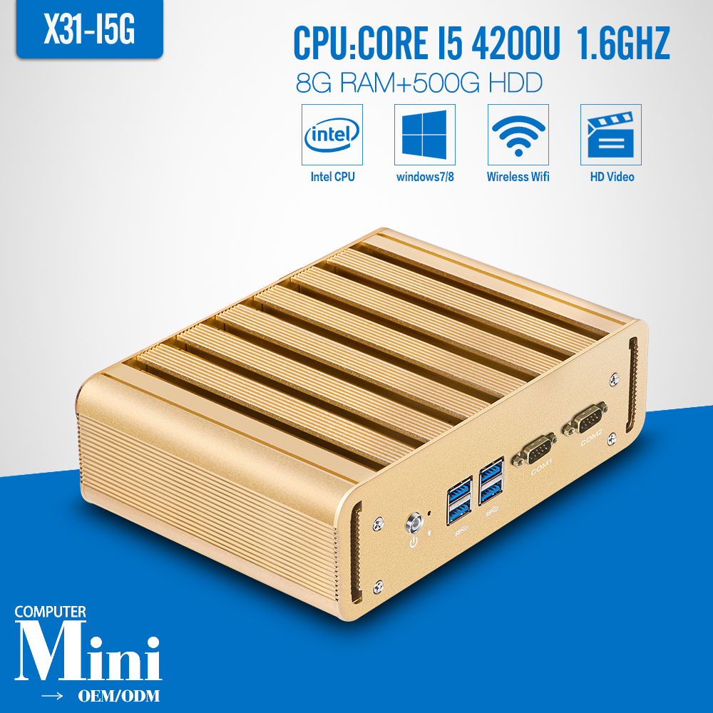 I5 4200u, 8 G RAM 500 G HDD + WIFI HDMI Mini ordenador Tablet Pc con Windows 7 /
