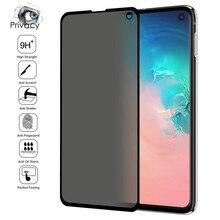Temperli cam Samsung Galaxy not için 20 S20 Ultra S10 S9 artı S10e gizlilik filmi Peep ekran koruyucu Samsung s20 artı