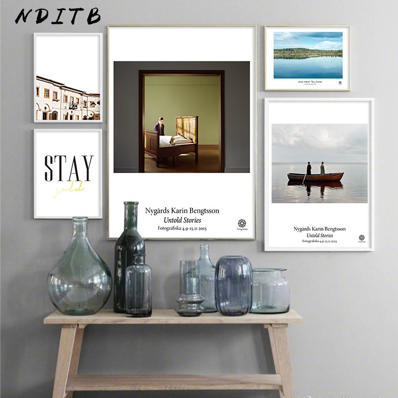 AliExpress & US $2.64 54% OFF|Scandinavian Abstract Landscape Canvas Print Wall Art Poster Nordic Painting Decorative Picture Modern Living Room Decoration-in ...