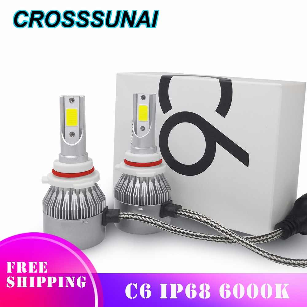 Car Headlights Styling LED H4 H7 H1 H3 H11 H13 880 9004 9005 9006 9007 Auto Light Bulbs HB1 HB2 HB3 HB4 H27 12V 55W 8000LM 6000K