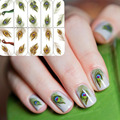 1 Sheet Nail Art Water Decals Transfer Stickers Fantastic Feather Pattern Sticker BOP300/303