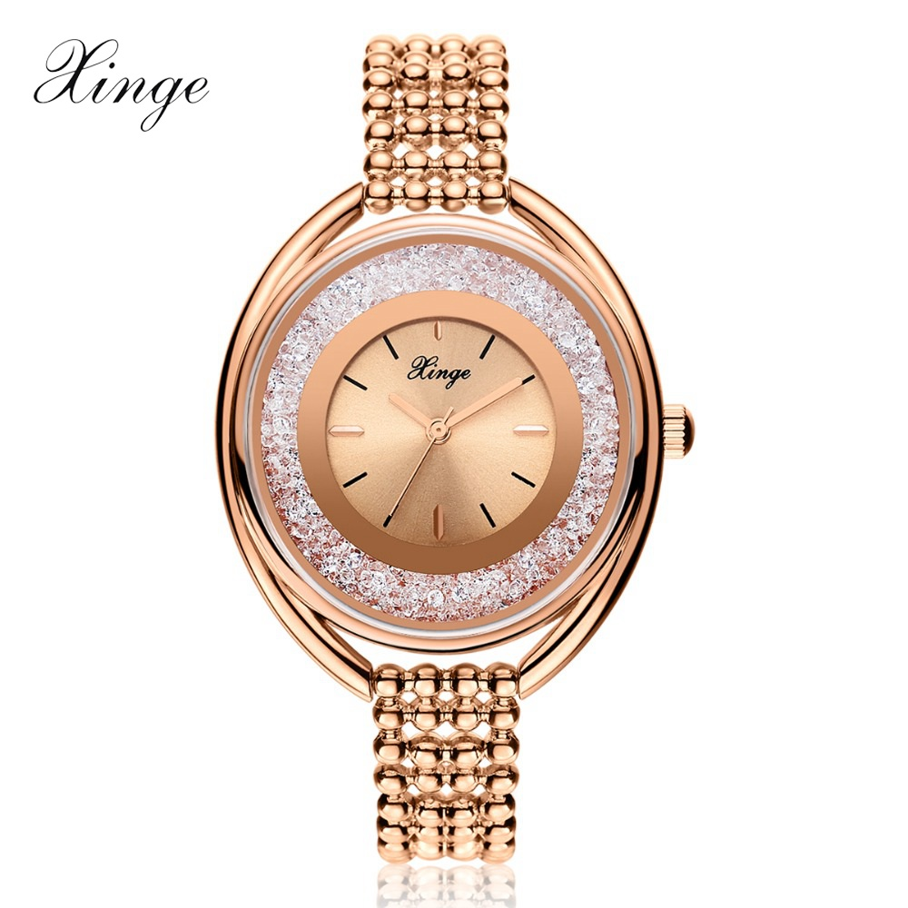 Xinge Brand Luxury Zircon Bracelet Wrist Watch Women Dress Watches Ladies Sport Business Top Quality Clock Quartz Watches xinge top brand 2018 women fashion watches bracelet set wristwatches watches for women clock girl female classic quartz watch