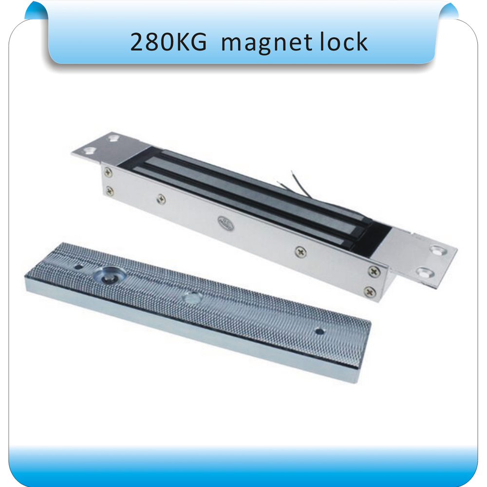 280KG 600LB Single Door 12V Electric Lock For Door Magnetic Electromagnetic Lock Holding Force For Access Control System new arrival 1000 kg 2200lb holding force electric shear magnetic lock for access control or intercom system